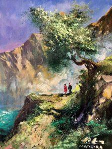 Adilov Alim: Szirten kiálló fa alatt (a009) 40 x 30 (olaj,vászon) 210€