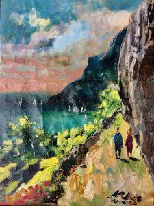 Adilov Alim: Under steep cliffs (a010) 40 x 30 (olaj,vászon) 210€