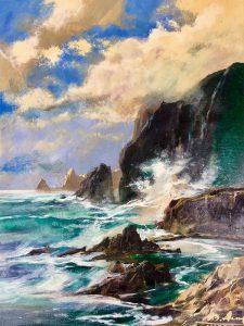 Adilov Alim: Smaragdzöld óceán (a012) 40 x 30 (olaj,vászon) 210€