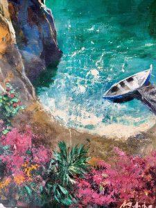 Adilov Alim: Déli napfényes öböl (a013) 40 x 30 (olaj,vászon) 210€