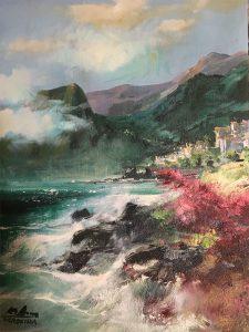 Adilov Alim: Vihar Madeirán (a018) 40 x 30 (olaj,vászon) 210€