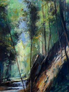 Adilov Alim: Erdei fények Maderián (a022) 40 x 30 (olaj,vászon) 210€