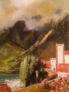 Adilov Alim: Templom a hegyek között (a029) 40 x 30 (olaj,vászon) 210€