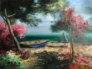 Adilov Alim: Déli pihenő (a044) 30 x 40 (olaj,vászon) 210€