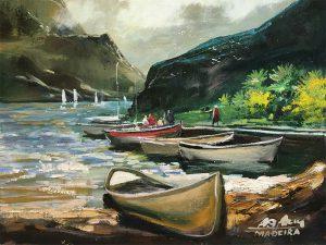 Adilov Alim: Megérkezés a túráról (a045) 30 x 40 (olaj,vászon) 210€