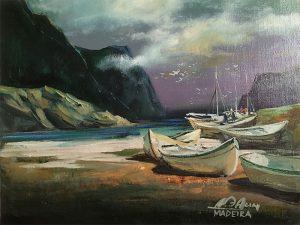 Adilov Alim: Halászat után (a055) 30 x 40 (olaj,vászon) 210€