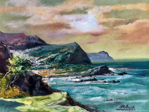 Adilov Alim: At the coast of Atlantic ocean (a062) 30 x 40 (oil,canvas) 210€