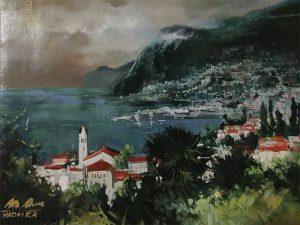 Adilov Alim: Fátyolfelhős öböl (a065) 30 x 40 (olaj,vászon) 210€