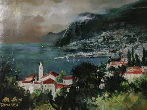 Adilov Alim: Cloudy bay (a065) 30 x 40 (oil,canvas) 210€