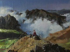 Adilov Alim: Pico do Areeiro (a067) 30 x 40 (olaj,vászon) 210€