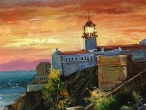 Adilov Alim: Lighthouse (a068) 30 x 40 (oil,canvas) 210€