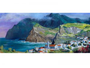 Adilov Alim: Madeira city (a071) 30 x 40 (oil,canvas) 210€