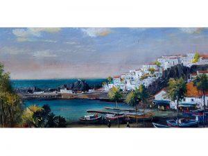 Adilov Alim: Kilátás a Churchil* platzról (a072) 30 x 40 (olaj,vászon) 210€
