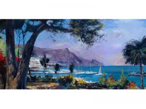 Adilov Alim: View to the harbor (a073) 30 x 40 (oil,canvas) 210€