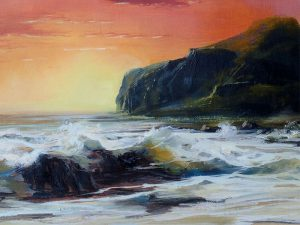 Adilov Alim: Sunset (a077) 30 x 40 (oil,canvas) 210€