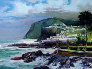 Adilov Alim: Fishing village in Madeira (a079) 30 x 40 (oil,canvas) 210€