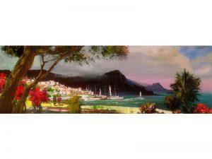 Adilov Alim: Kikötő (a081) 30 x 40 (olaj,vászon) 210€