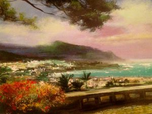 Adilov Alim: Windy bay (a084) 30 x 40 (oil,canvas) 210€