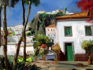 Adilov Alim: Camara de Lobosi házak (a086) 30 x 40 (olaj,vászon) 210€