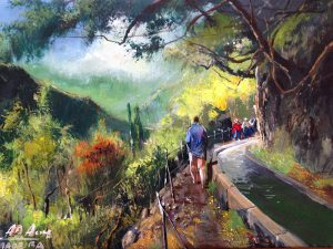 Adilov Alim: Walking in the Levada (a091) 30 x 40 (oil,canvas) 210€