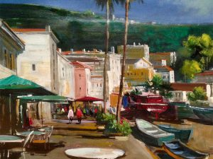 Adilov Alim: Terrace of Camara de Lobos (a092) 30 x 40 (oil,canvas) 210€
