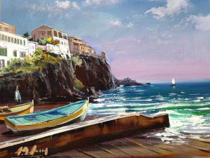 Adilov Alim: Camara de Lobosi öböl (a095) 30 x 40 (olaj,vászon) 210€
