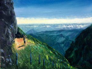 Kálvári Jozsef: Kilátás a Pico Do Arieiro-ról 30 x 40 cm (olaj,vászon) 210€